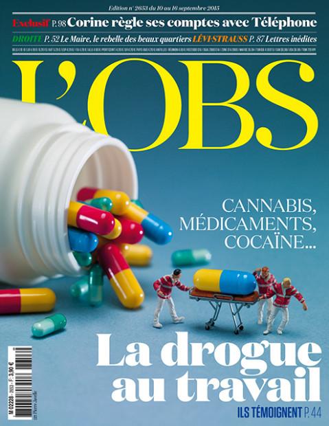L'OBS( 9/10-16)特集〈 職場でのドラッグ〉。