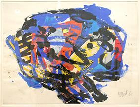 Karel Appel  Tête bleue, 1961 © Karel Appel Foundation  /Adagp 2015