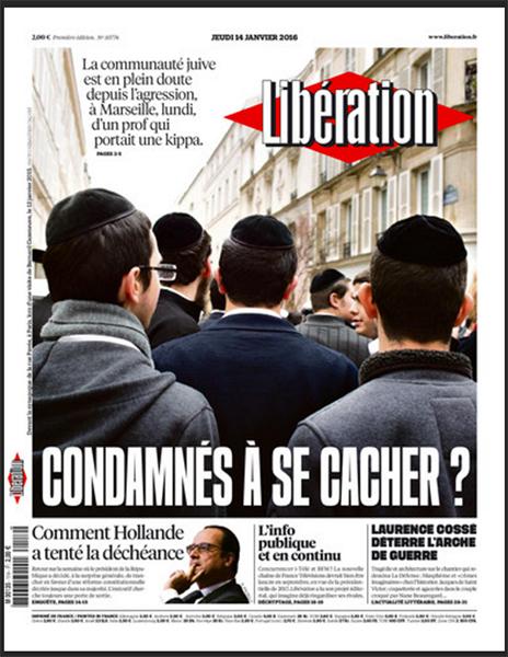 Libération(1月14日付)。