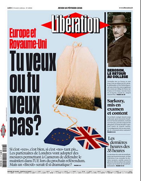Libération(2月18日付)。