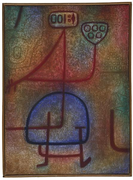 PAUL KLEE La Belle jardinière, 1939 Huile et tempera sur toile de jute - 95 x 71 cm Zentrum Paul Klee, Berne  © Adagp, Paris 2016