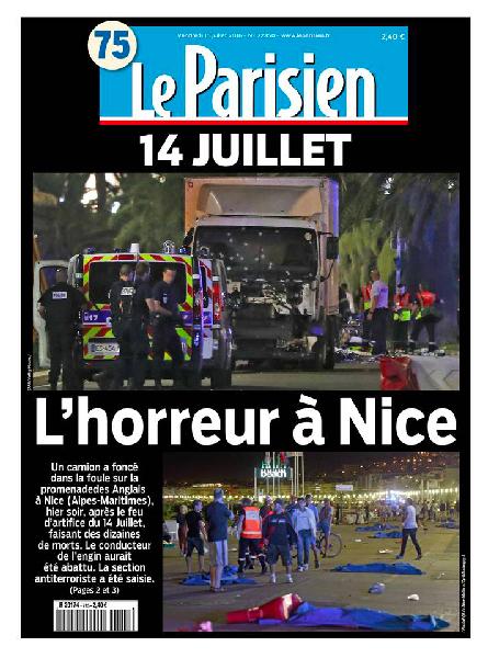 ル・パリジャン紙7月15日付第1面