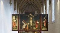 グリューネヴァルト、イーゼンハイム祭壇画『磔刑』1512-1516年 © Musée Unterlinden, Colmar