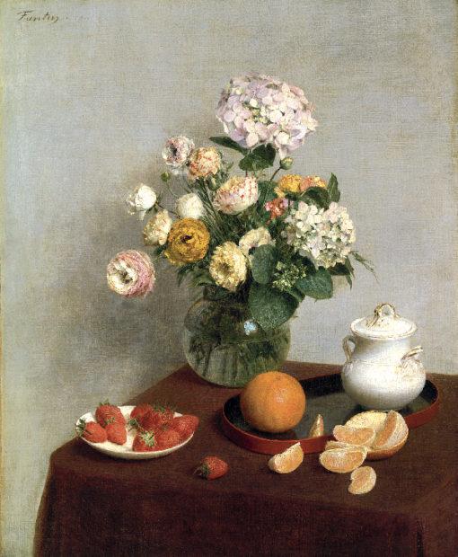 夏の花と果物 1866油彩  ⒸToledo Museum of Art