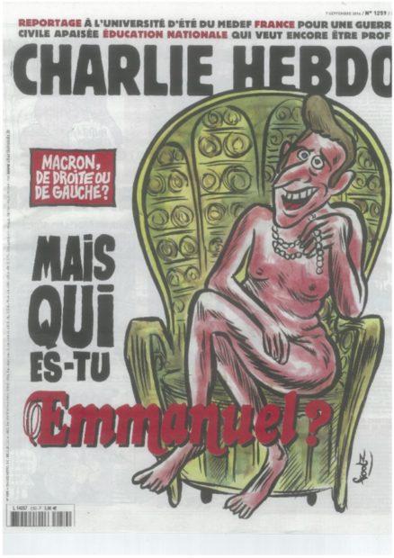 シャルリ・エブド(16-9 -7)「右でも左でもないエマニュエル。キミはだれ?」*