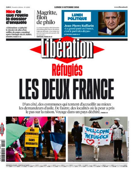 *10月3日付リベラシオン紙の表紙