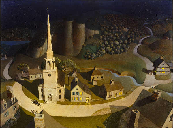 Grant Wood, The Midnight Ride of Paul Revere, 1931 photo © The Metropolitan Museum of Art, Dist. RMN-Grand Palais / image of the MMA