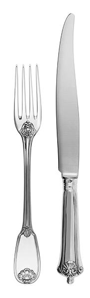 ルイ14世様式の クラシックなVersailles フォーク  341€ / ナイフ  270€