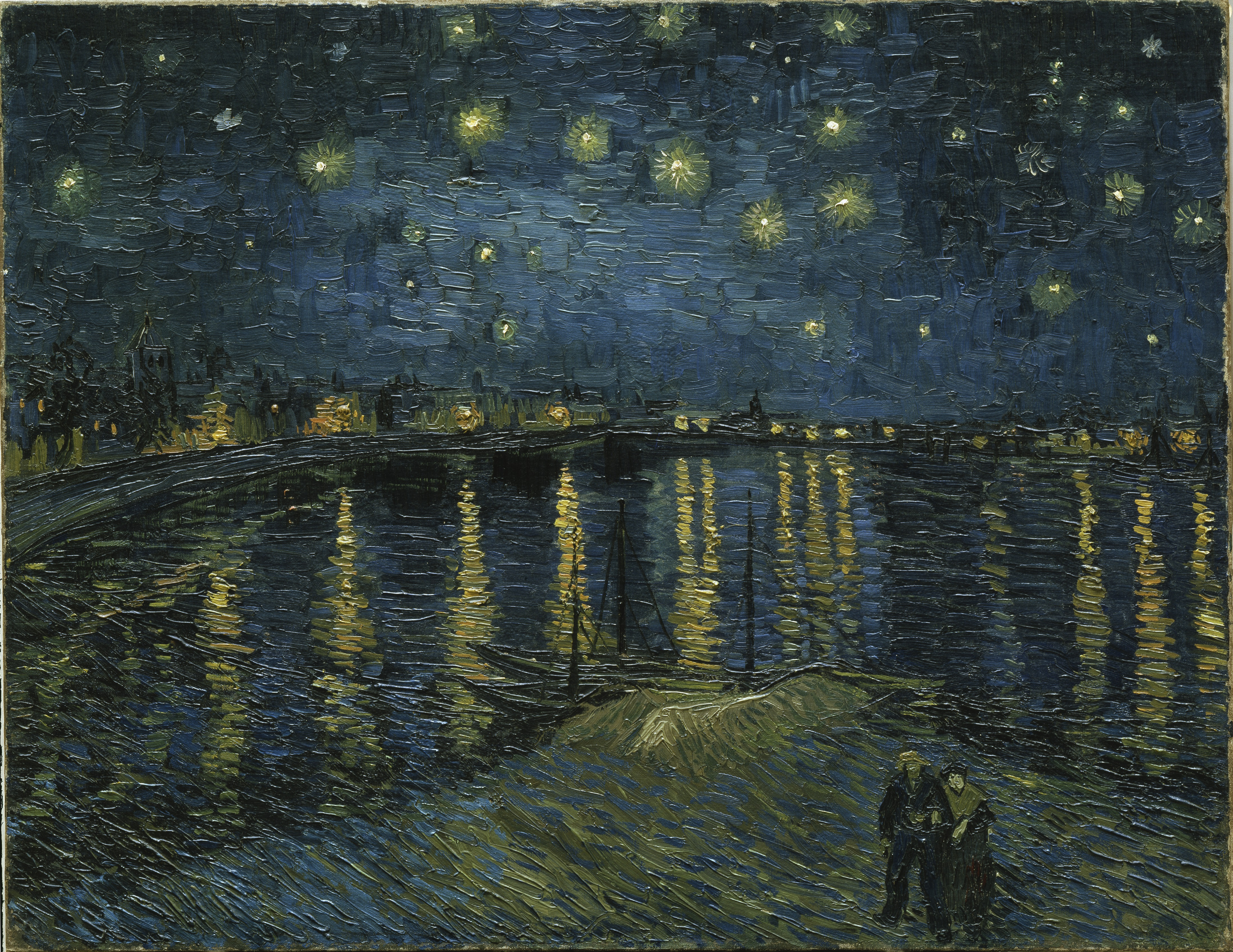 Image result for starry night over the rhone