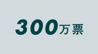 300万票