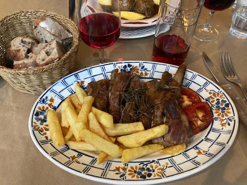 custighjoli - plat de côte de cochon grillé