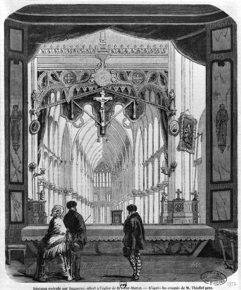 ブリ市のジオラマを描いた版画(1852年)。今とほぼ同じ光景。