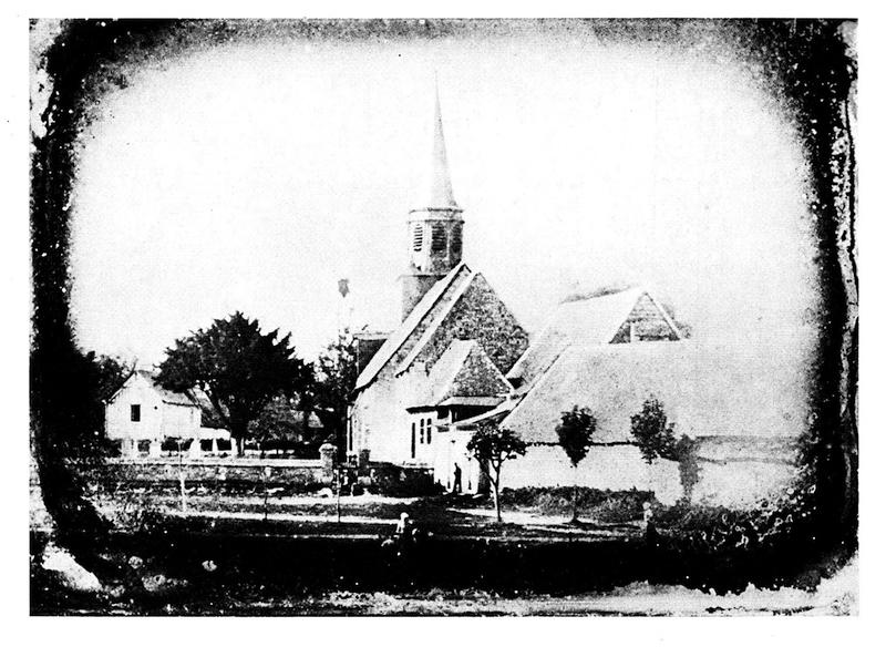 1840年のブリ・シュル・マルヌ風景。ダゲール撮影と思われる。