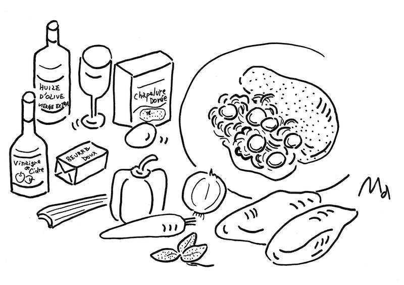 Poulet pané en marinade