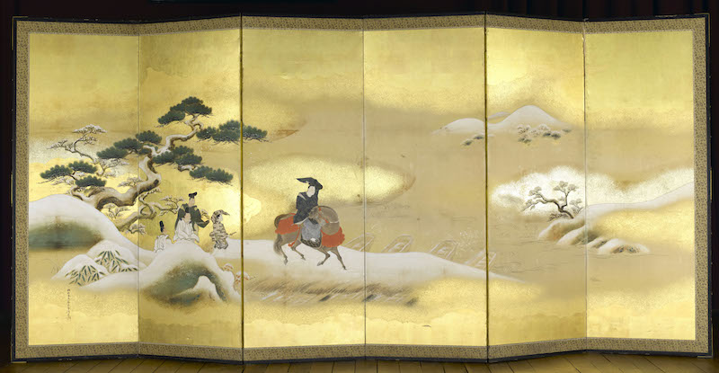 徳川幕府がナポレオン3世に送った狩野派の屏風。