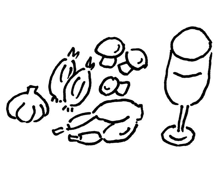Cuisses de grenouille au vin blanc