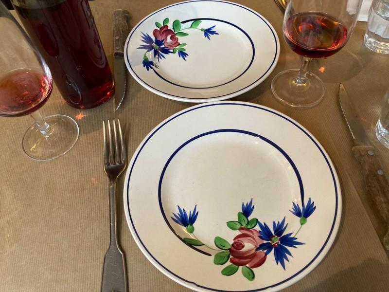アンティーク調のお皿も可愛い